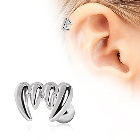 Vampire Crocs cartilage Boucles d'oreilles en acier chirurgical