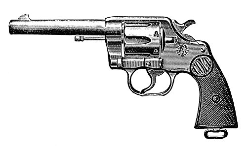 The Poster Corp Revolver 19Th Century. /Ncolt 'New Service' Double Action Revolver. Engraved Advertisement from A Late 19Th Century American Newspaper. Kunstdruck (60,96 x 91,44 cm) (Century Revolver 19th)