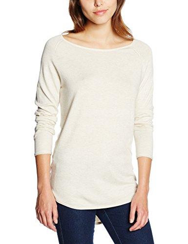 ONLY Damen Onlmila Lacy L/S Long Pullover Knt Noos, Elfenbein (Oatmeal), 34 (Herstellergröße: XS) (Lacy Leggings Für Frauen)