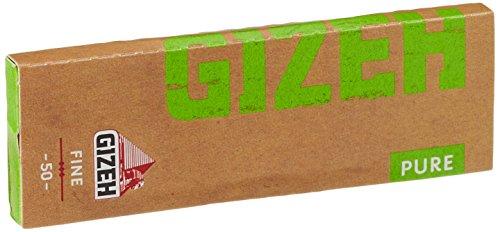 gizeh Giza 411110052 Pure Fine - Carta Breve, 25 x 50 Confezioni di cartine per ance, Bio Canapa