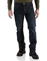 Carhartt jean denim 5 poches droite rugueuse coupé 100 067