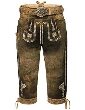 Michaelax-Fashion-Trade Stockerpoint - Herren Trachten Lederhose mit Gürtel, in uroid gespeckt, Sebastian
