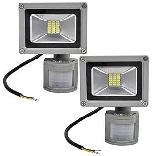Strahler Scheinwerfer 2X 20W SMD LED mit bewegungsmelder bewegungsmelder PIR beschmutzen kühles weißes IP65 wasserdichtes Innen oder Gebrauch im Freien