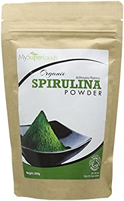 Organic Spirulina Powder (200g) | Highest Quality Available | Certified Organic by the Soil Association | By MySuperfoods