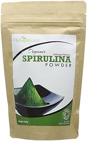 Bio Spirulina-Pulver (200g) - Höchste Qualität - Garantiert organisch durch die Soil Association - Von MySuperfoods