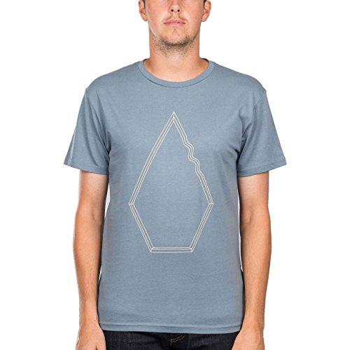 Volcom Herren T-Shirt blau M (Drew Herren-schuh)