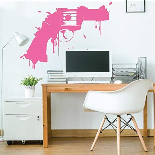 Zaosan Vinyl-Wandtattoo Waffe Kunst Design Wanddekoration Aufkleber