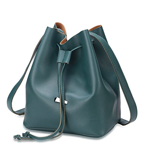 Damen Casual Messenger Bag Open Eimer Tasche PU Schulter Tasche Handtaschen Einfache Stilvolle Geldbörse (vier Farben Optional) D
