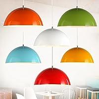 Moderna lampada pendente Minimalista moderno lampada colorata alloggiamento personalità creative office ristorante testa singola lampadari barra circolare lampade hotel ,40cm bule,