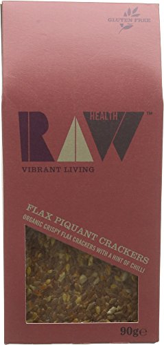 Raw Health Organic  Piquant Tom Crackers 90g (Pack of 4)