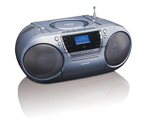 Lenco DAB+/FM tragbares Radio SCD-680 mit CD/MP3 Player, Kassettenspieler und USB Anschluss, MP3, PLL FM Radio mit RDS, AUX-Eingang, Kopfhörerbuchse -