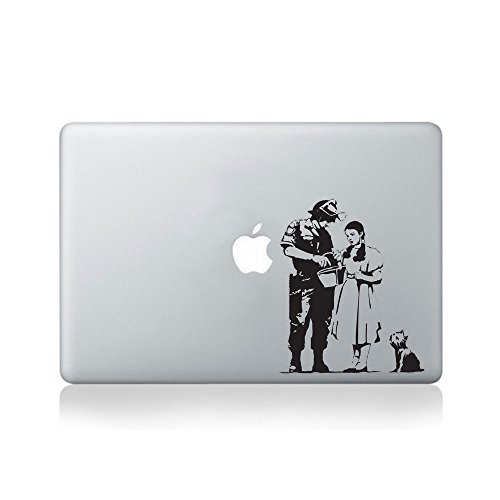 Banksy Wizard of Oz Stop and Search Aufkleber fur Macbook (13/15), Laptop oder Gitarre