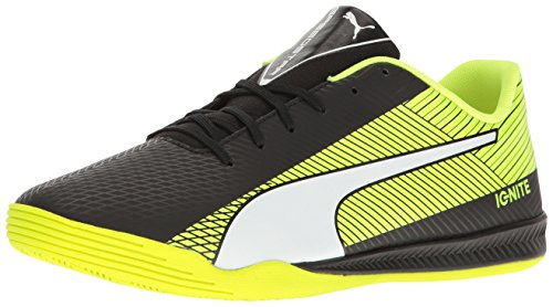 Puma-Mens-Evospeed-Star-S-Ignite-Soccer-Shoe-Black-White-Safety-Yellow-12-M-US