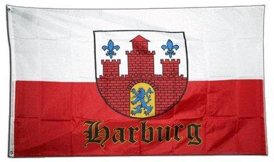 Flagge Deutschland Stadt Hamburg Harburg - 90 x 150 cm