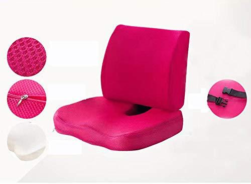 KongUE Sitzkissen Lendenwirbelstütze Auto Büro Computer Stuhl Qualität orthopädisches Memory-Schaum Kissen verbessert die Haltung waschbar Stuhlkissen -