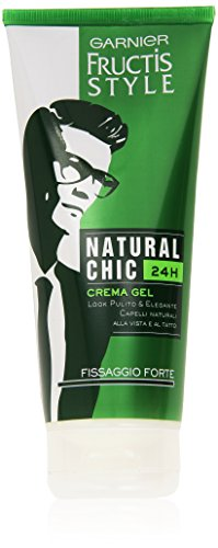 Garnier Fructis Natural Chic 24H Crema Gel Fissaggio Forte, 200 ml