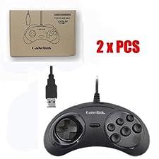 Childhood Gamelink 2PCS Art USB klassisches Steuerpult Spiel Auflage für Saturn Stil PC MAC Schwarzes