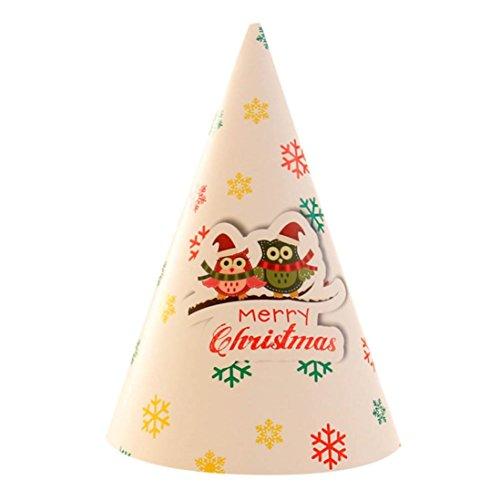 DIY Weihnachtsmütze Transer® Karton Weihnachten Hut Party Supplies Handwerk Weihnachtsmann Cap Santa Hut Faltbar Cap Mützen Größe: 14×20cm (Santa Hut Green)