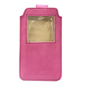 Jo Jo A10 Nillofer Leather Carry Case Pouch Wallet S View For LG L Fino Exotic Pink
