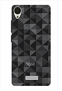 Noise Geometry-Black Printed Cover for Lava X9