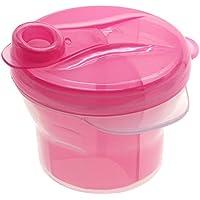 kompassswc Baby Leche en Polvo Dosificador 360° giratorio 3compartimentos Leche en Polvo Dispensador portátil bebé alimentos Caja de leche en polvo para 3Raciones