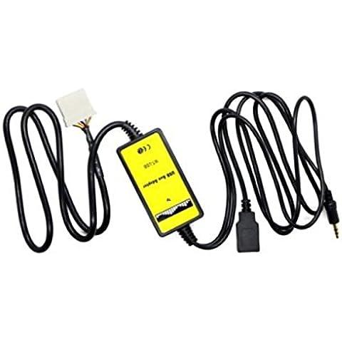 3.5mm Adaptador USB Aux de Reproductor MP3 Audio de Coche para Mazda 3 6