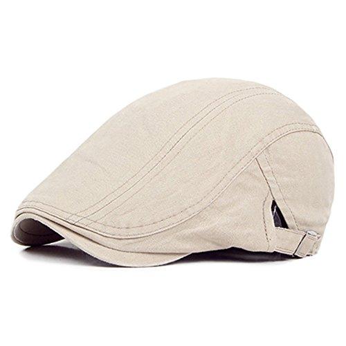 Bluelans® Bluelans® Trendige Vintage Gatsby Flatcap Schiebermütze Cabbie Ivy Flat Cap Golfermütze (Beige)