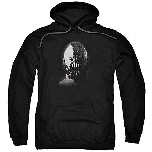 Trevco Herren Dark Knight Rises Bane Adult Hooded Sweatshirt Kapuzenpulli, Black, Klein (Bane Knight Rises Dark)