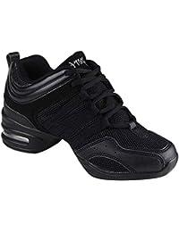Gtagain Contemporáneo Jazz Zapatos Mujer - Lona Cordones Zapatillas  Informal Danza Baile Practicidad Running Sneaker Aire ae0b5800884