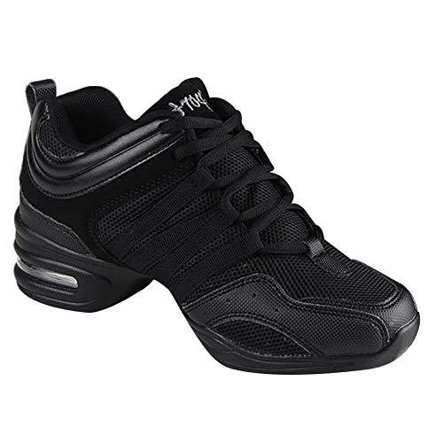 Gtagain Contemporáneo Jazz Zapatos Mujer - Lona Cordones Zapatillas Informal Danza Baile Practicidad Running Sneaker Aire Libre Deportes Running