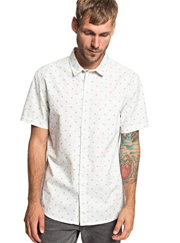 Quiksilver - Camisa Manga Corta - Hombre - S - Blanco