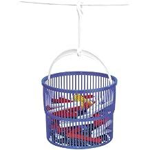 Wenko 3716010100 - Cesto de plástico con 30 pinzas (ø 19 x 9 cm), color azul
