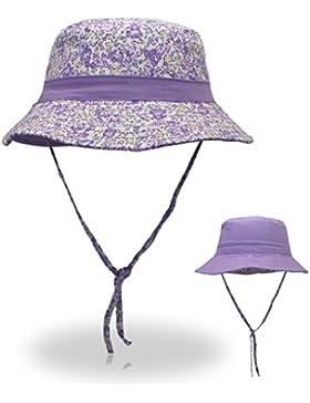 vertast Niñas señoras floral print Reversible algodón Sombrero, morado