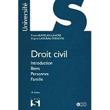 Droit civil. Introduction Biens Personnes Famille - 18e éd.