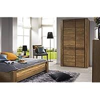 Alkove Olney Solid Wood 2-Door Wardrobe, 110 x 200cm, Rustic Oak Effect