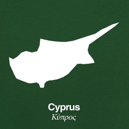 Cyprus / Zypern Silhouette - Herren T-Shirt - 13 Farben Flaschengrün