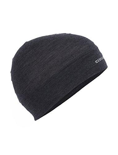 Icebreaker Unisex Flexi Beanie Kopfbedeckungen, Black Hthr, Einheitsgröße