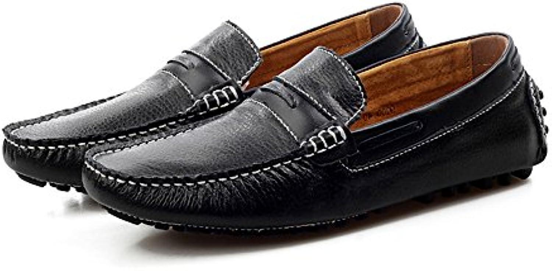SRY-scarpe Mocassini da Guida semplici da da da Uomo Cucitura Manuale Splice Vamp Penny Boat Mocassini Suola in Gomma | Di Qualità Fine  dcd369