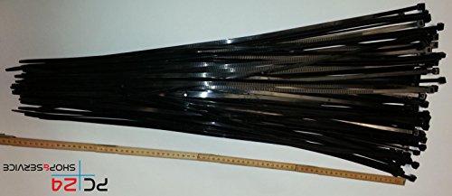 Preisvergleich Produktbild Kabelbinder 750mm schwarz 100Stck. | Premiumqualität von PC24 Shop & Service