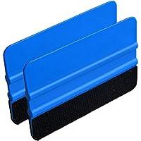 Calistouk - 2 espátulas de fieltro para limpiar ventanas de coche