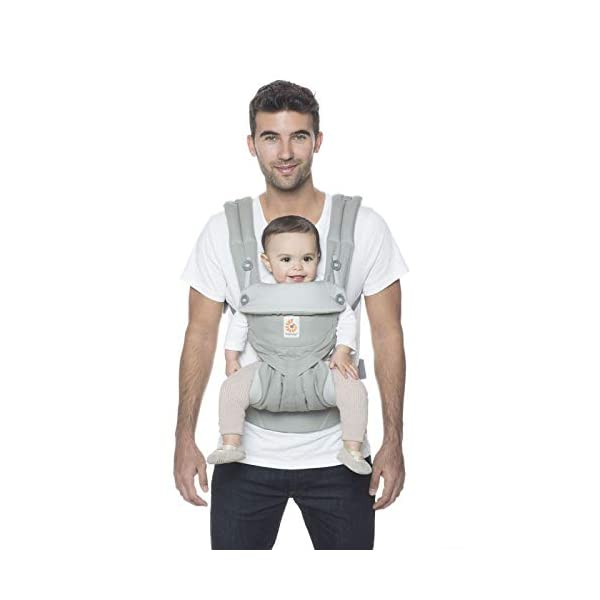 Ergobaby Babycarrier 360 4 Postition Carrier Sunrise Pearl Grey Ergobaby 4 ergonomic carry positions: front-inward, front-outward, hip, & back Weight range: 12- 33 lbs. (from 7-12 lbs. with infant insert, sold separately) Ergonomic seat for baby, adjustable for forward-facing 4