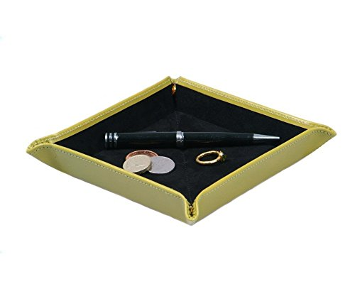 SAGEBROWN Lime Green Bridle Hide Travel Tray