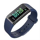 KKARTSmart Watches Fitness Tracker Sports Smart Bracciale Test della Pressione sanguigna da Uomo Frequenza cardiaca0.96Pollici Schermo a Colori Impermeabile Step Multifunzione Blu