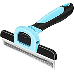 VersionTech Cepillo para mascotas, perros y gatos Cepillo de limpieza de mascotas para limpiar mascotas medianas y grandes, reduce eficazmente la caida de cabello hasta un 90%