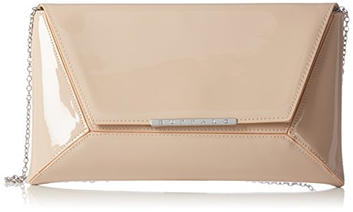 Buffalo Bag 14907 Patent PU Damen Clutch 1x17x30 cm (B x H x T), Beige (Nude 01) (Bag Clutch)