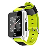 PETUNIA S9 Smart Watch 1.54 inch 3G Smart Watch Android 5.1 Bluetooth Phone Watch - Silver & Green(1G+16G)