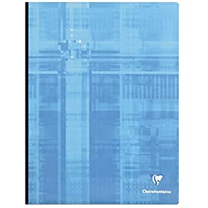 Clairefontaine 69342C Clothbound Notebooks, A4+, Squared, 90 g, 96 Sheets - Assorted Colours, Pack of 5