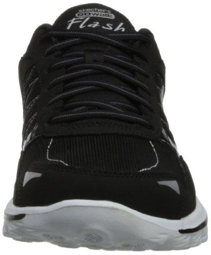 Skechers Go Walk 2 - Flash, Baskets Basses femme Noir (Bkw)
