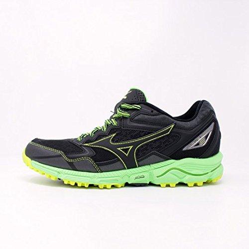 Mizuno Wave Rider 20 Jr, Chaussures de Running Compétition Homme Vert