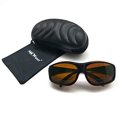 MCWlaser Gafas Protectoras de Seguridad con láser Gafas para 355 NM 532 NM 808 NM 980 NM 1064 NM (190-540 y 800-1700 NM) Tipo de absorción EP-8 Gafas para miopía EP-1